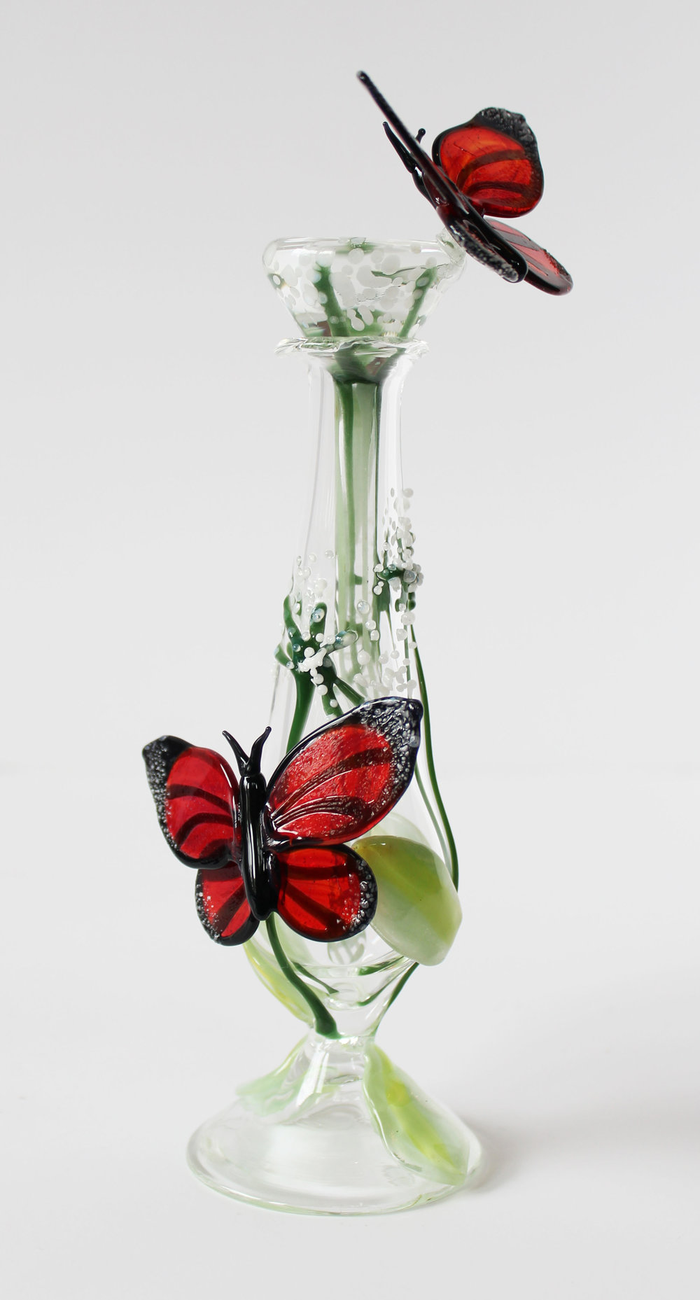 Milkweed and Butterfly Perfume Bottle