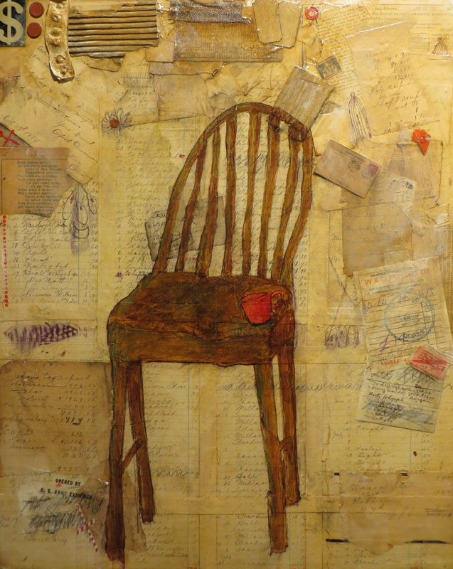 Chair with Letters and Red