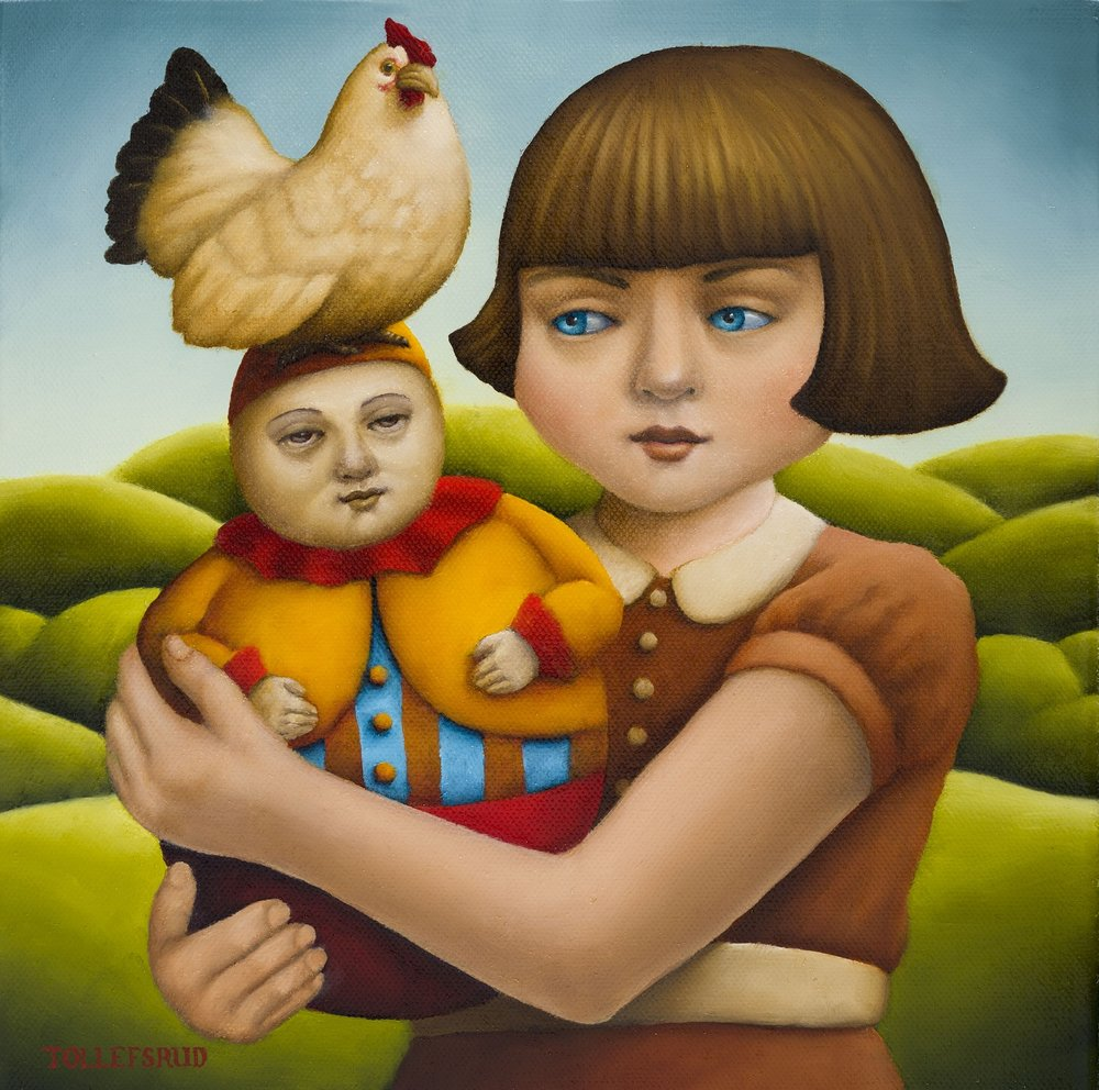 Girl With Hen