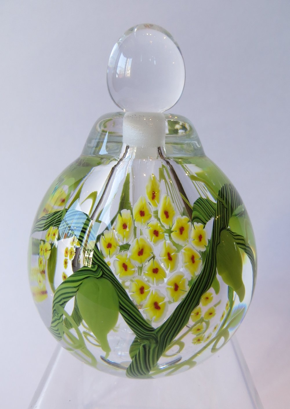 Yellow Vine Perfume Bottle