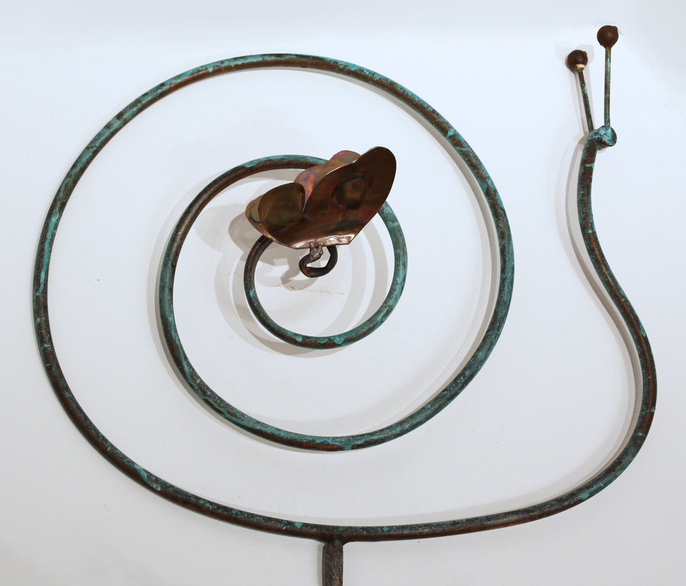 Snail with Butterfly on Rod