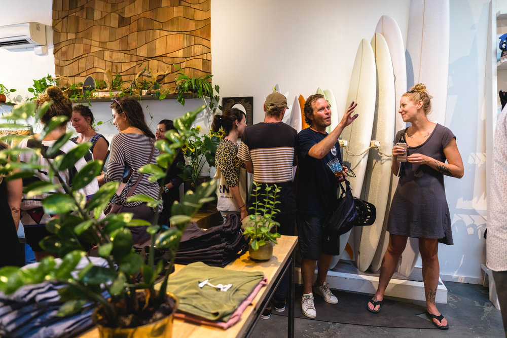 Leeward is such a cool space and run by the amazing surfer Lyndsey! Thanks to her for letting us have the party in her space! Sea Together couldn't be more grateful! Photo by Tyler Feague.