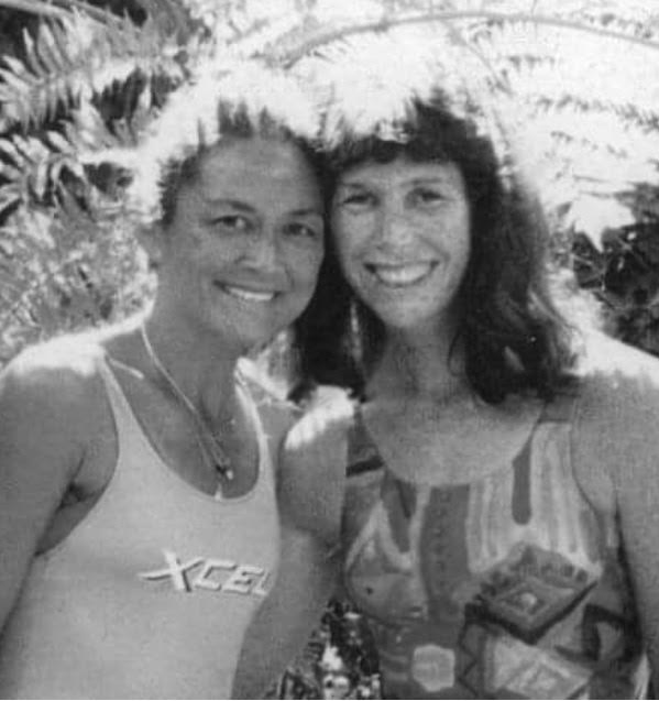 "Cher Pendarvis - ""The portrait was taken by my husband Steve Pendarvis in 1996 when Rella visited us here"". Rella & Cher."
