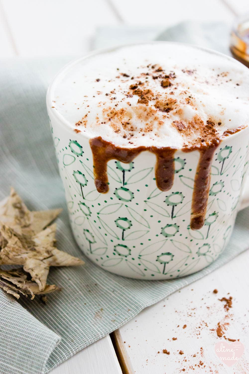 Nutella Cappuccino - Topped with milk foam and cacao powder