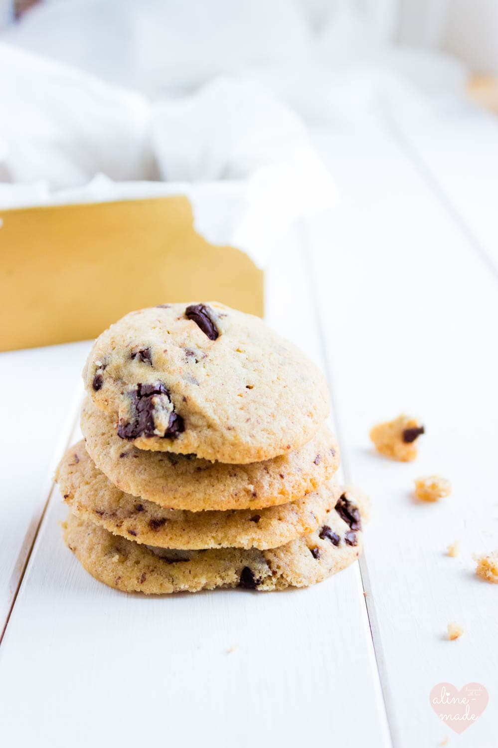 Pecan Butter Chocolate Chip Cookies - With dark chocolate chips and pecan nut butter.