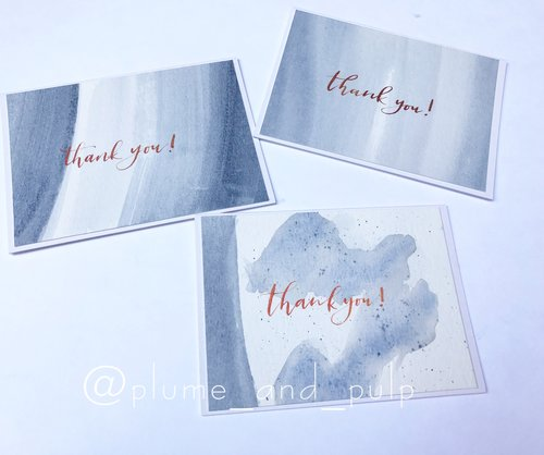 payne s gray mini thank you card calligraphy calligrapher