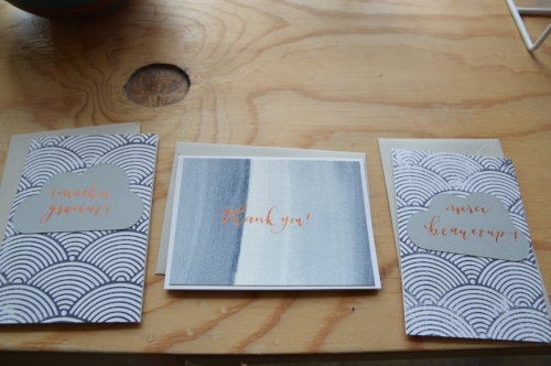 Thank you cards in Spanish, French and English