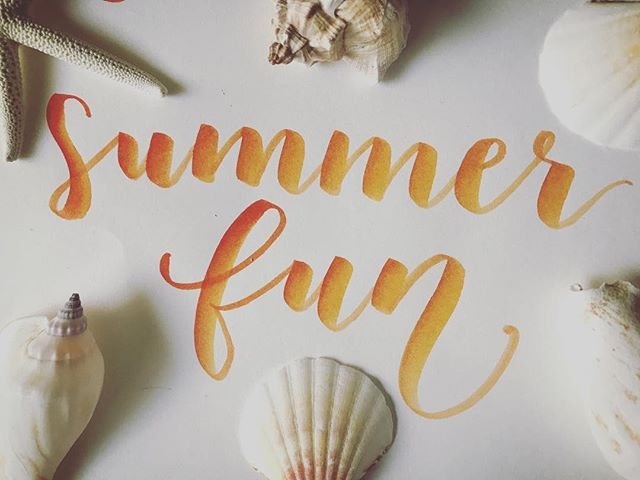Although I'm deep in my summer coma, it's time to enjoy these last few days of freedom before returning to work, but there's still plenty of summer left to go. Time to make the most of it. ⠀ .⠀ .⠀ .⠀ Plumeandpulp.com⠀ #practicemakesprogress #handmade #handwritten #handlettered #handmadefont #dailytype #goodtype #brushcalligraphy #typeinspired #calligraphy #caligraphymasters #handletteringdaily #handletteringpractice #illustrations #letteringcommunity #craftqueen👑 #losangelesartist #craftaholic #paperphile  #handcraftedinlosangeles #handletteringdaily #letteringtribe #handcraftedcards #plumeandpulp #losangelescalligrapher #summer⠀ ⠀