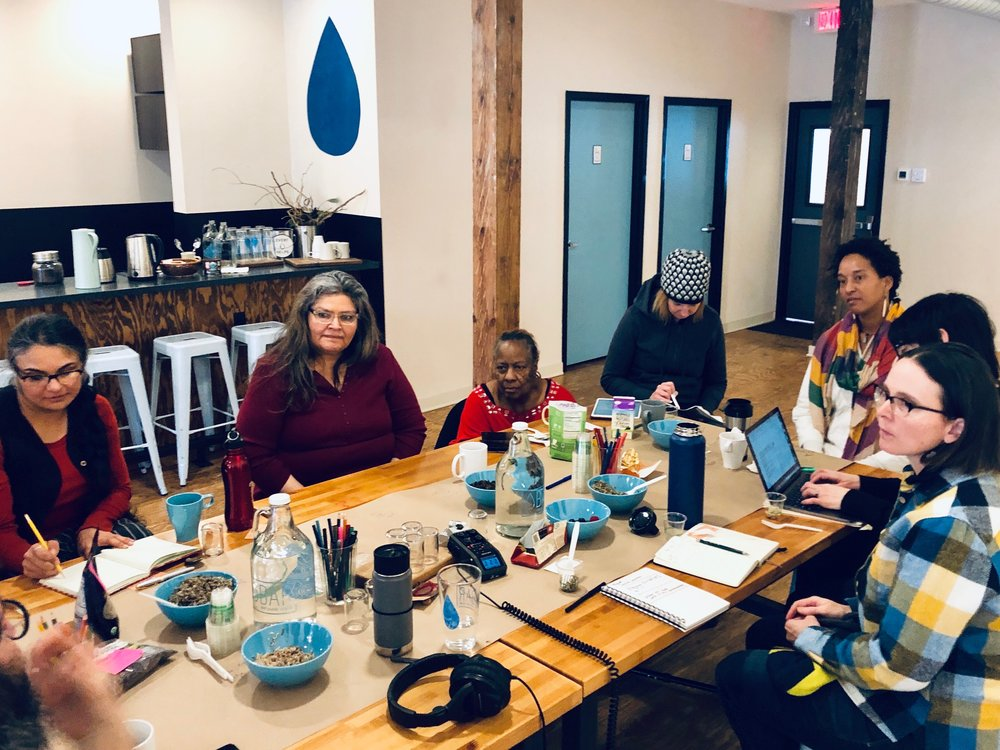 A meeting of the Ways of Knowing Water Research Collaborative at Water Bar & Public Studio (2019)