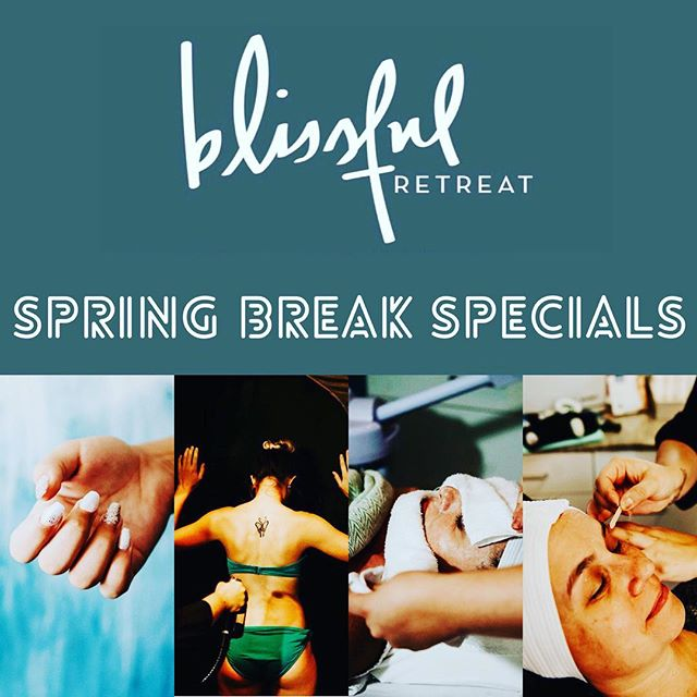 Get yourself ready- it's Spring Break! This week ONLY, Professional Spray Tan $25.  Facial Waxing 15% off.  Gel Nail Polish $22.  3tech facials $15off  Call for an appointment today 661-747-1940