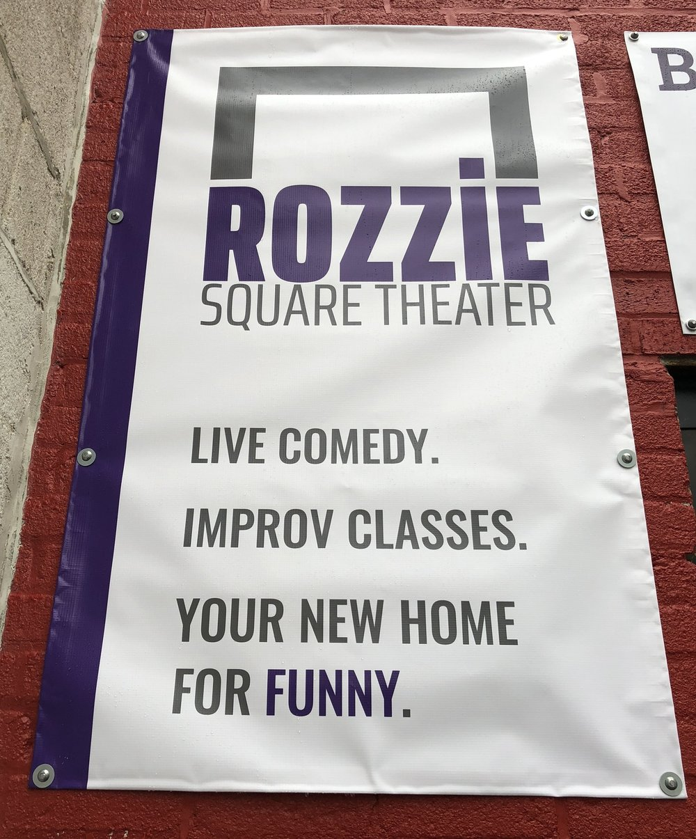 Our New Home - The Rozzie Square TheaterRight in the heart of lovely Roslindale Village.5 Basile st.,  Roslindale, MA 02131Our theater and seating is handicap accessible; Bathrooms are ADA compliant.