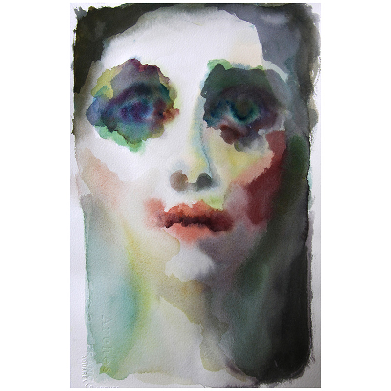 Amanda Clyne, watercolor, 2010