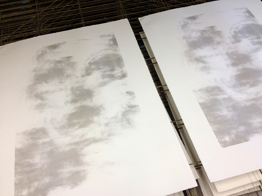 Amanda Clyne, screenprints in process