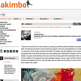 Akimbo exhibition review April 22, 2014