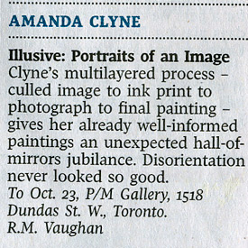 Globe & Mail exhibition review October 9, 2010