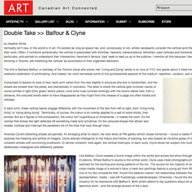 Art Sync exhibition review October 22, 2010