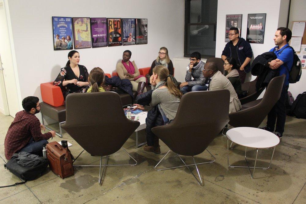 Maxwell UN class with Shannon O'Shea, UNICEF, Maxwell MPA Alumn (2017)