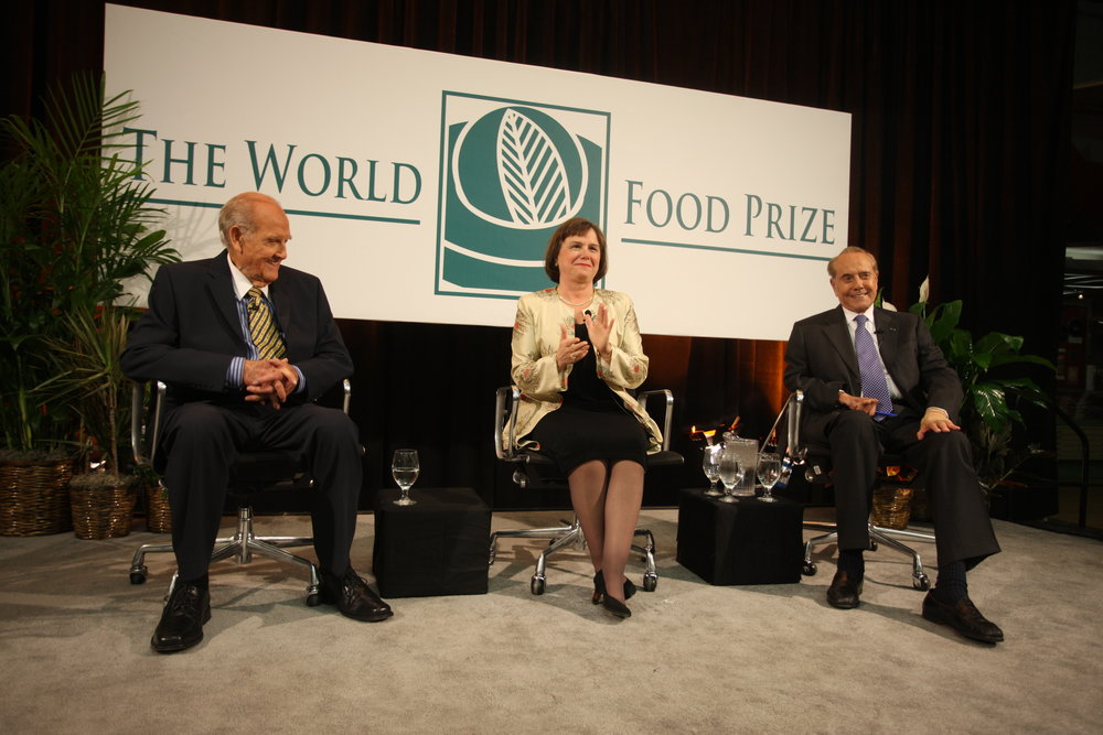 World Food Prize Panel with 2007 Laureates Senators George McGovern and Bob Dole