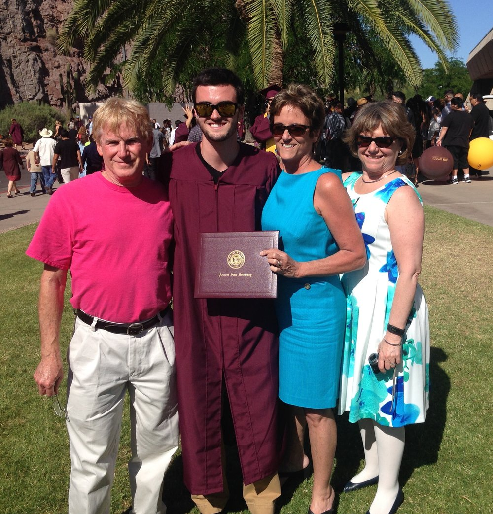 Nephew Will Lessard graduation from Arizona State University (2016)