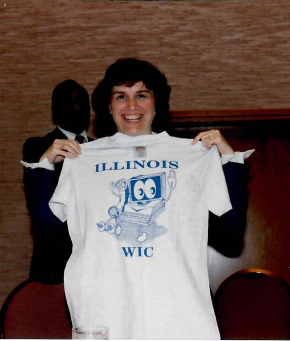 Catherine Bertini visiting the Illinois WIC Program (1990)