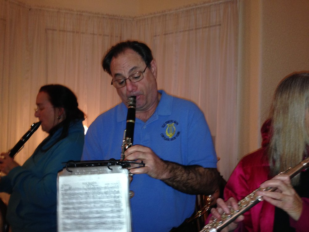Joe Dovi and Catherine were clarinet duet partners and mentors to each other (2014)