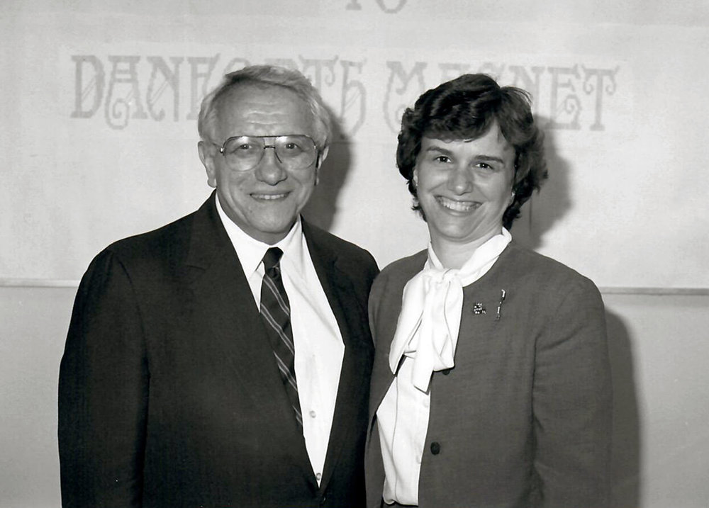 New York State Senator Tarky Lombardi, one of Catherine's first bosses and mentors, in Syracuse (1992)
