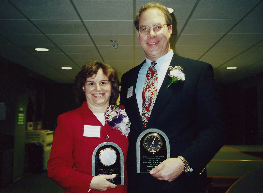Catherine Bertini & Judge Phillip Rumsey inducted in CHS Inaugural Wall of Fame (2000)