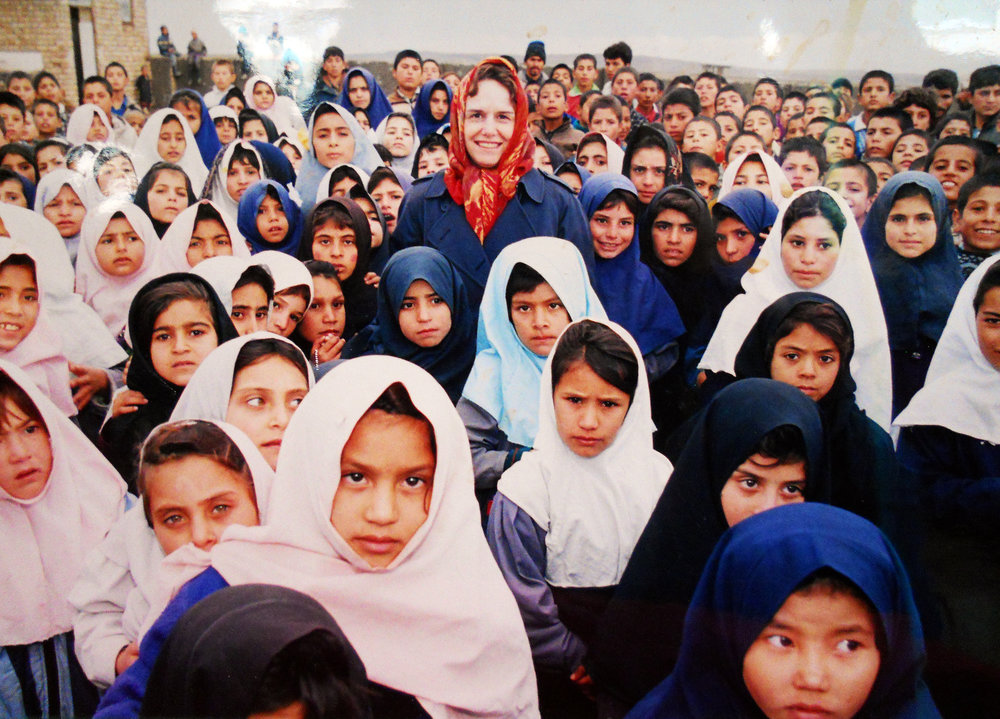 Girls school in an Afghan refugee camp in Iran (1999)
