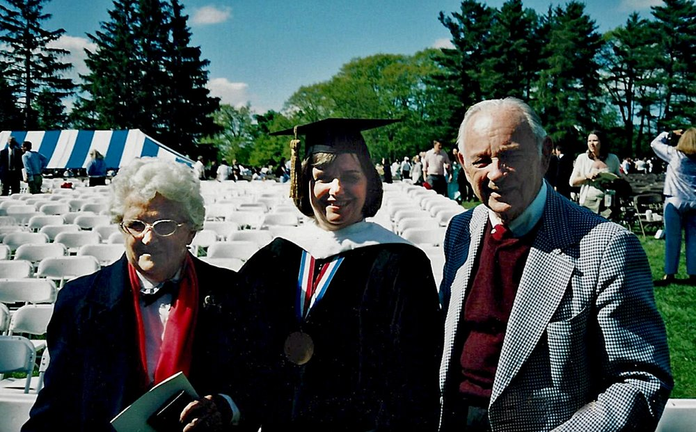Honorary degree at Colgate University with Ann Bertini and George Fisk (2004)