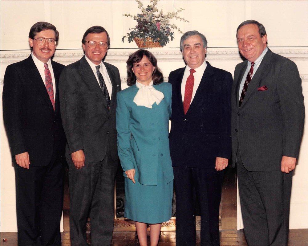 Senator Jim Seward, Congressman Sherry Boehlert, Catherine Bertini, Fulvio Bertini, Assemblyman Clarence Rappelyea