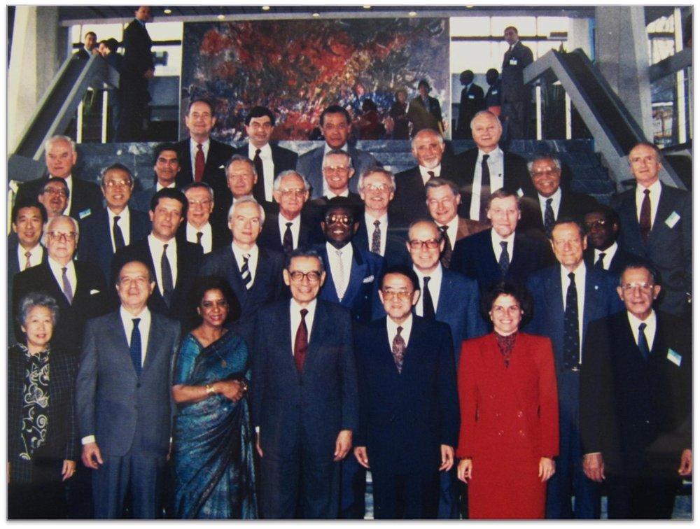 Secretary General Boutros Boutros Ghali with UN Agency Heads – Geneva (1992)