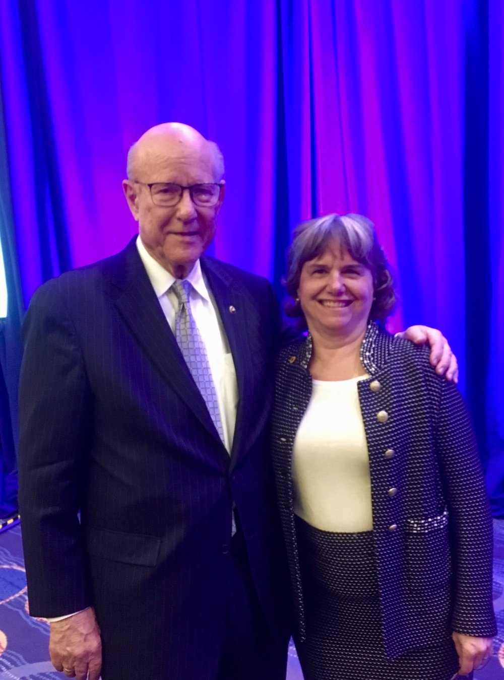 With Senator Pat Roberts as he received the Gene White Award at the Global Child Nutrition Foundation Event