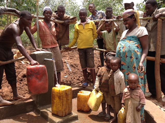 Tap stand 1,people are fetching clean water.JPG