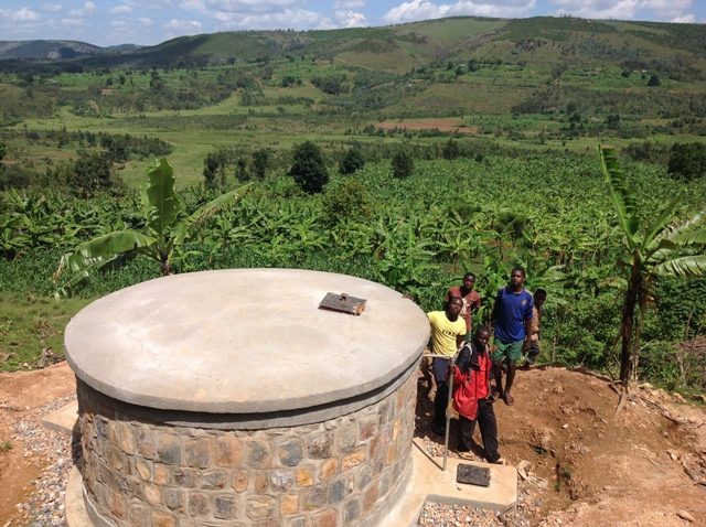 Academy of Global Studies at Austin High School helps raise funds for water systems in Burundi. A collection chamber like the one pictured here is crucial to water systems, it filters water that flows to tap stations throughout villages. And clean water transforms futures for people in need.