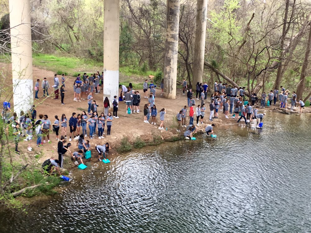 March 2019 nearly 200 students from Global Studies Academy at Austin High School participated in the Walk For The Water program. Where they collect water from Lady Bird Lake then walk carrying jugs weighing up to 40 pounds the three-mile loop to simulate the average weight and distance traveled by people in Burundi Africa. 600+ students have participated in the  Walk For The Water  program.