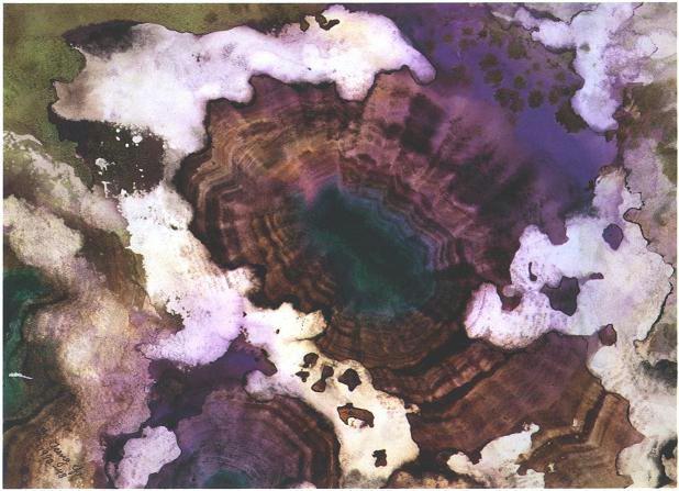 """""""Deep Sea Purple Crystal"""", Sunken Treasure Series."""