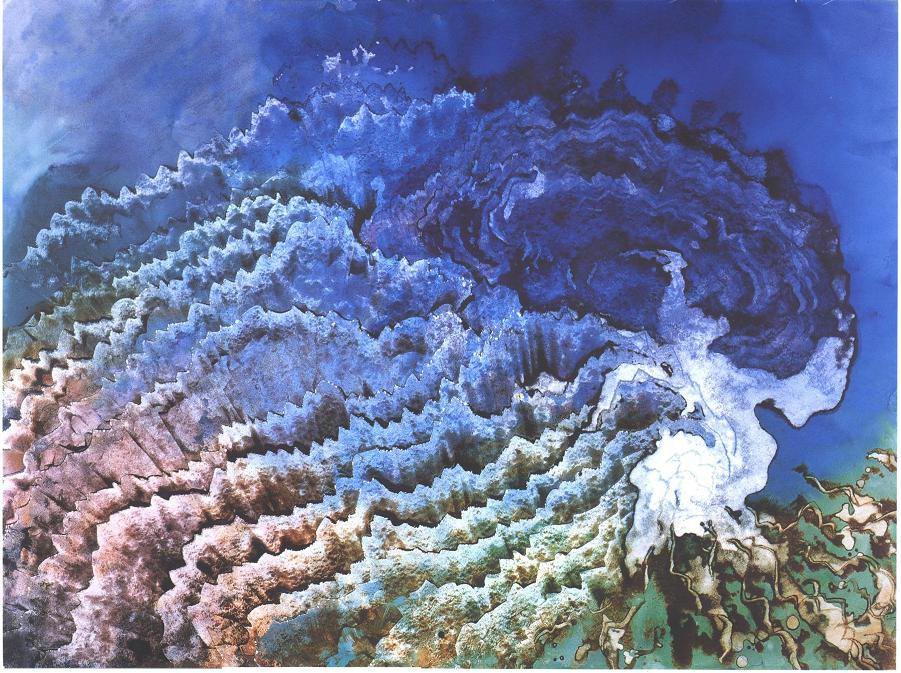 """Deep Sea Veil"", Concave Veil Series."