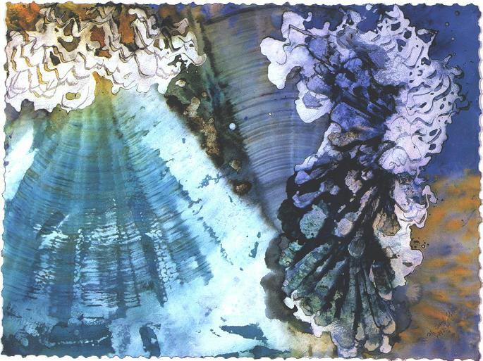 """Crystal Pyramid"" 1998, Crystal Reef Series."