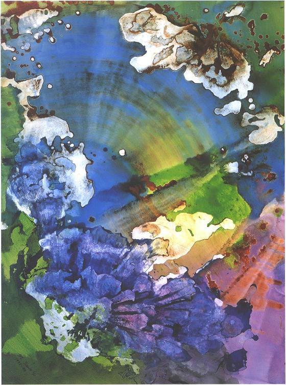 """""""Crystal Sapphire"""", Crystal Reef Series."""