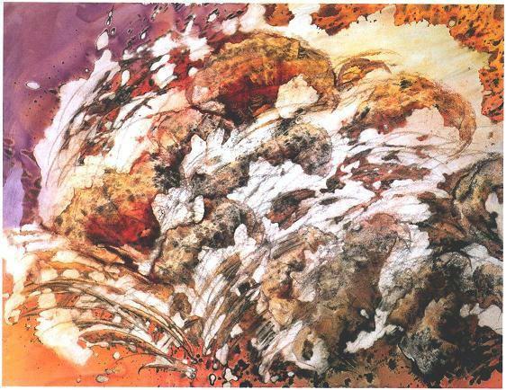 """Lava Splash II"", Sweep and Fall Series."