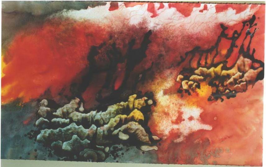 """""""Burning Trees II"""", Forest Fire Series."""
