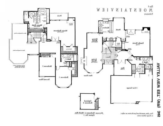"Tract home floor plan. The ""Poltergeist House"" was probably customized off this inital plan but the basic element are there, though no indication where the portal to the other-side resides and if you can relocate it to a more user friendly area like the family room...."