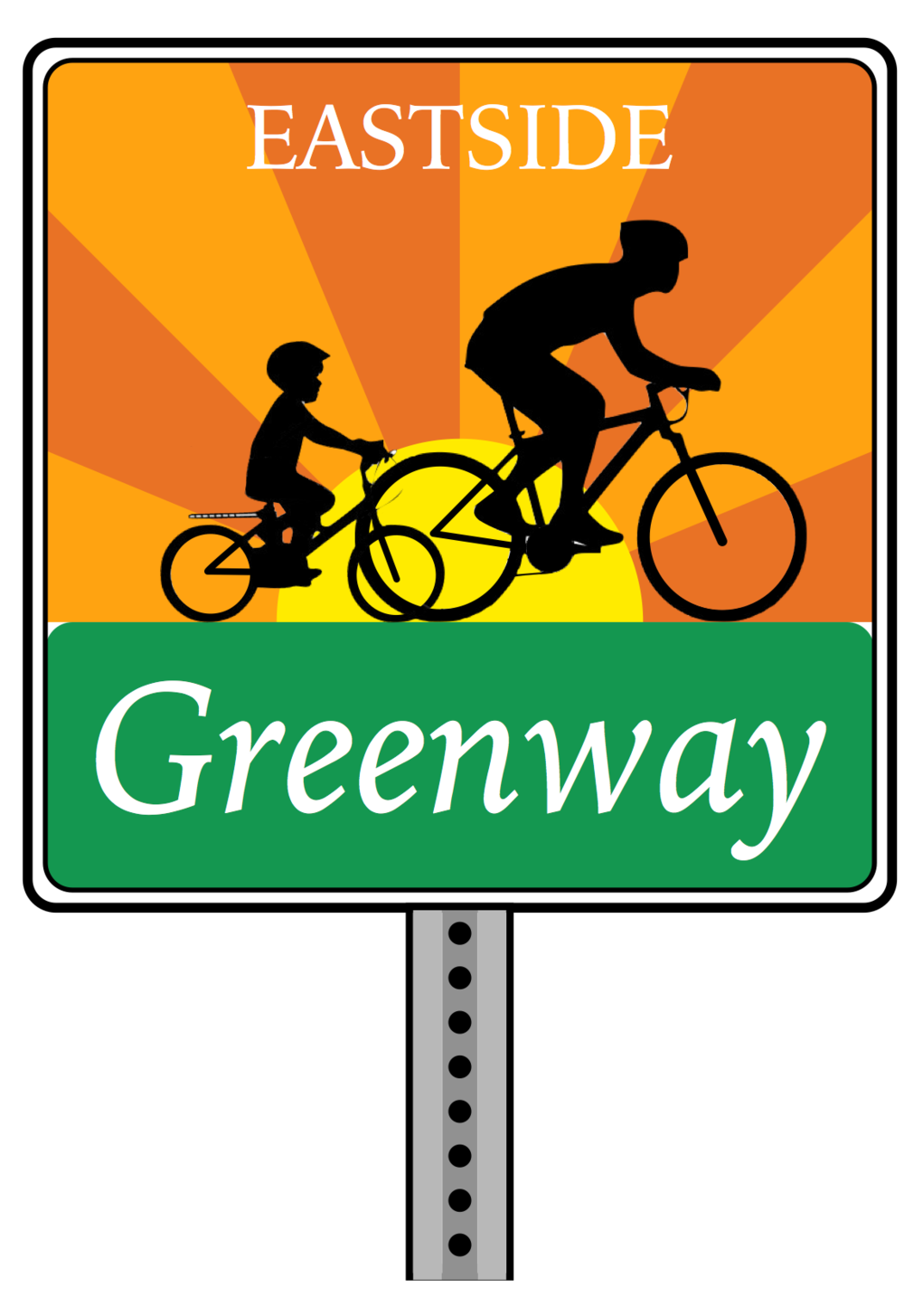 Concept of branding along the Greenway route.