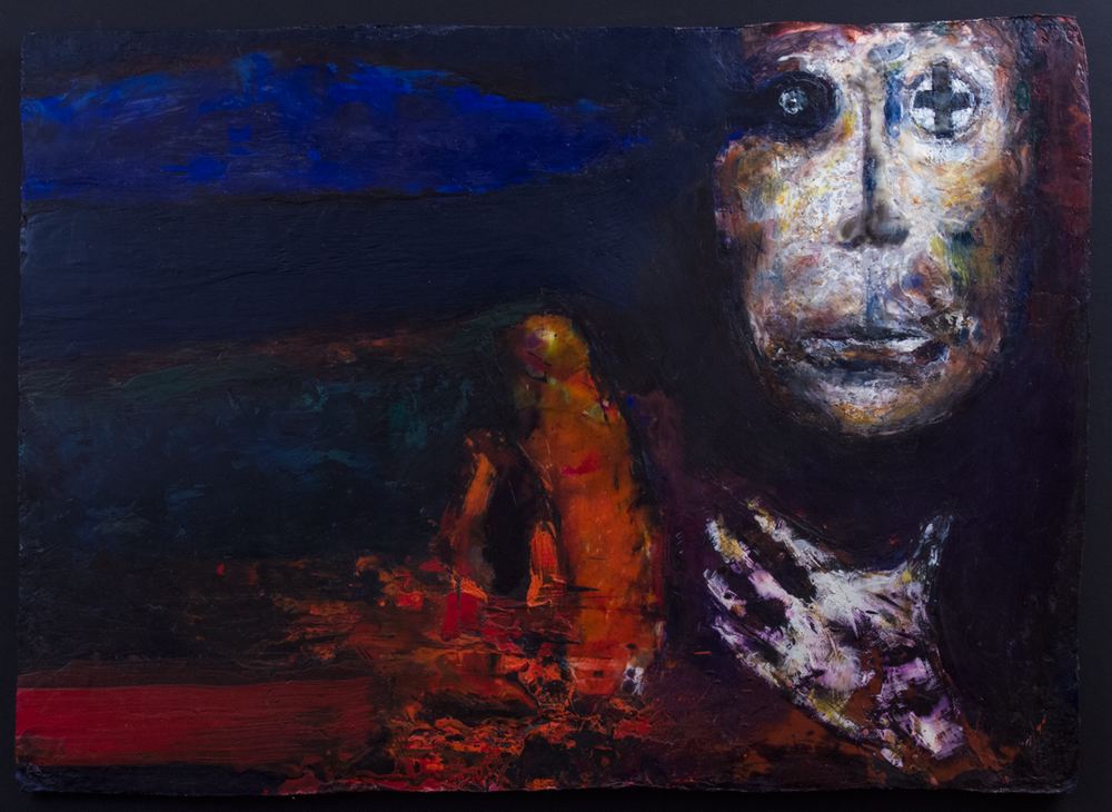 'a passing thought' - encaustic study