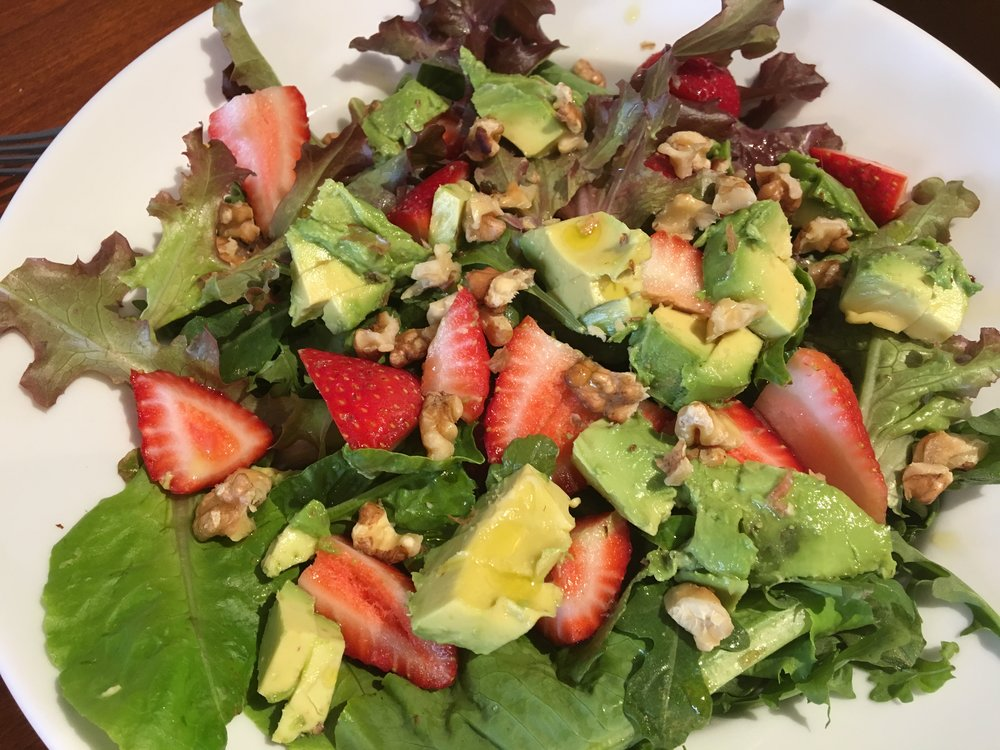 Strawberry, Walnut and Avocado Bowl