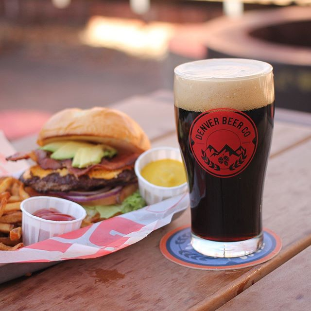 Sometimes you just want a burger and a beer! Come do what Coloradans do best; breath fresh air, drink craft beer, and eat Colorado raised, grass-fed beef (not into beef? We've got veggie burgers and chicken too). Yum yum!  #mightyburger #burger #fries #ketchup #DBC #denverbeerco #arvada #foodtruck