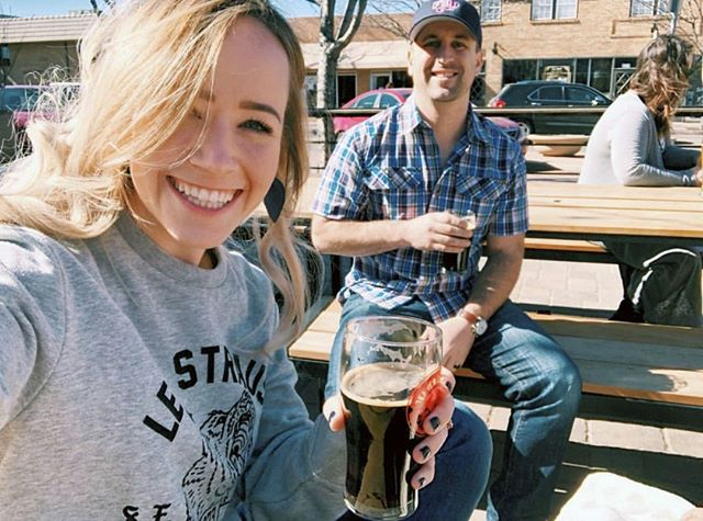 We're all smiles at Mighty today. Come by and grab a beer and a burger and you will be too. #mightyburger #burger #fries #ketchup #DBC #denverbeerco #arvada #repost #beer #smile @katie_baechler