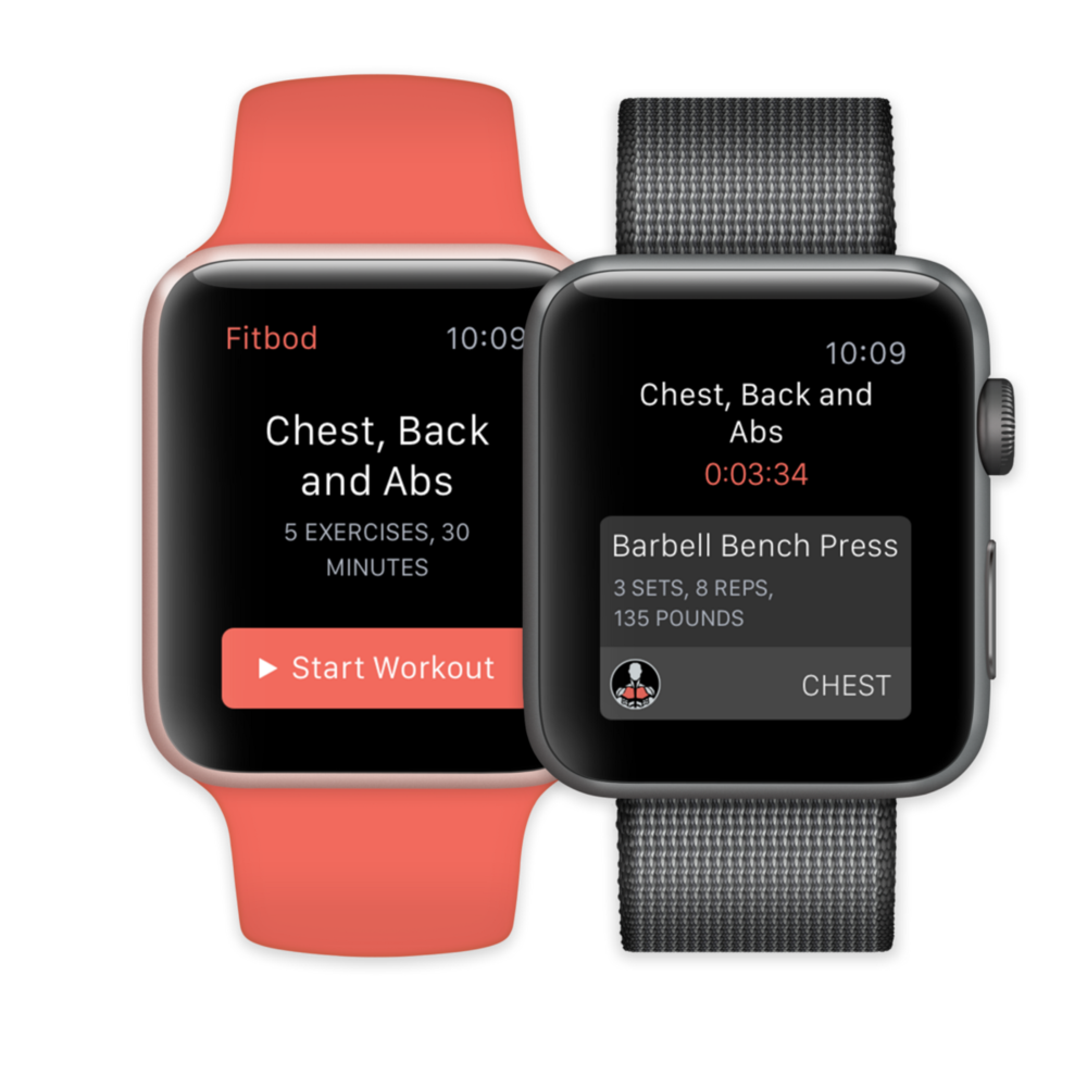 Workouts within reach. - With Watch, you can do the heavy lifting. See exercises at a glance, track your progress and stay focused while training.