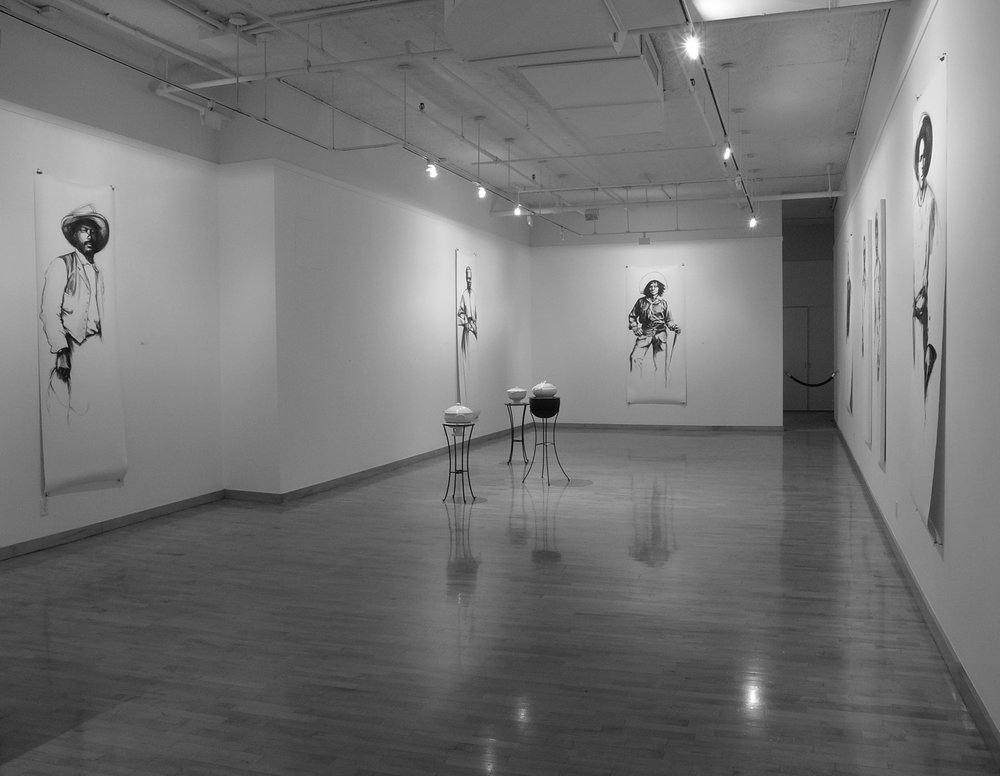 17 somewhere listening, 2005, installation view, June Kelly Gallery, NYC_1.jpg