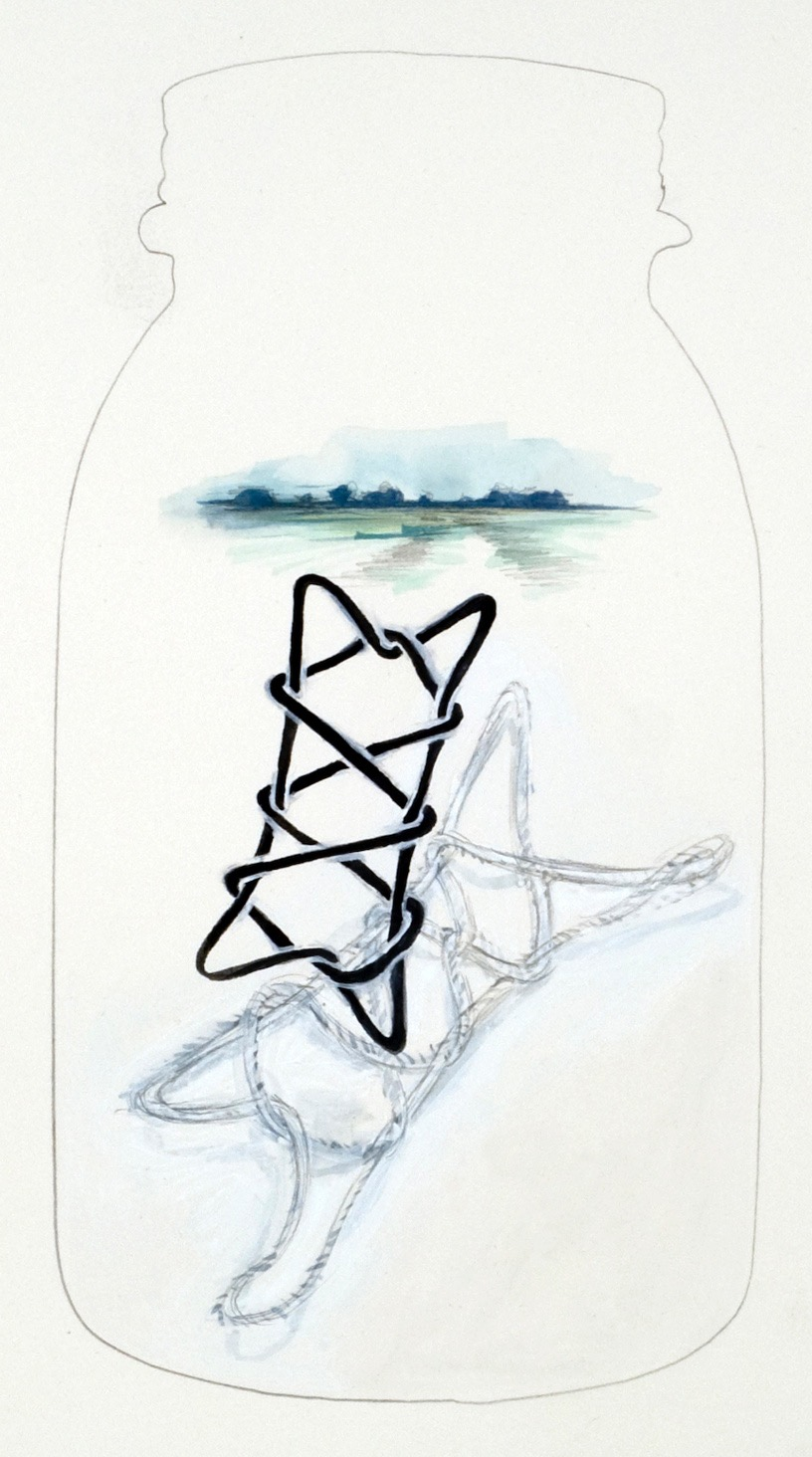 patoka hill 17, 2012  graphite, gouache and color pencil on paper  12 x 12 inches